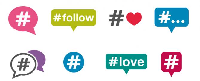 uso de hashtag